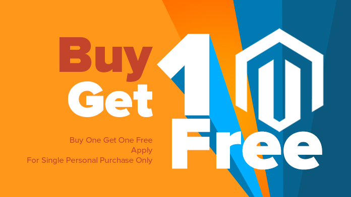 Buy One Get One Free offer for Magento Single Personal License