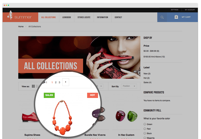 Magento Color Customizer tool in responsive Magento theme JM Summer