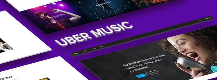 Responsive site template for Music Lovers