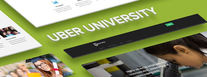 Responsive site template for University