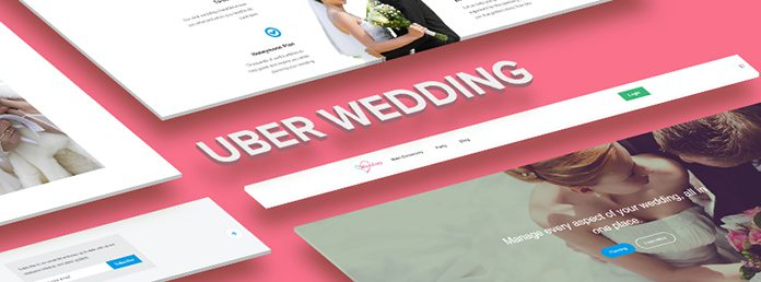 Responsive site template for Wedding Planners