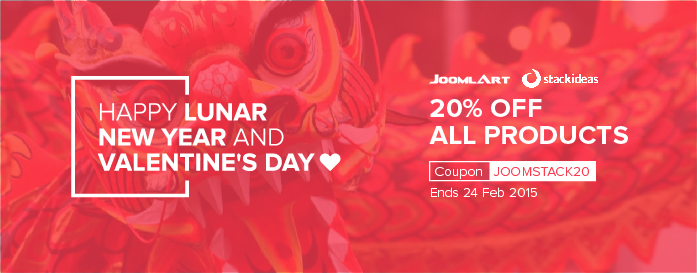 February 2015 promotion with JoomlArt and StackIdeas