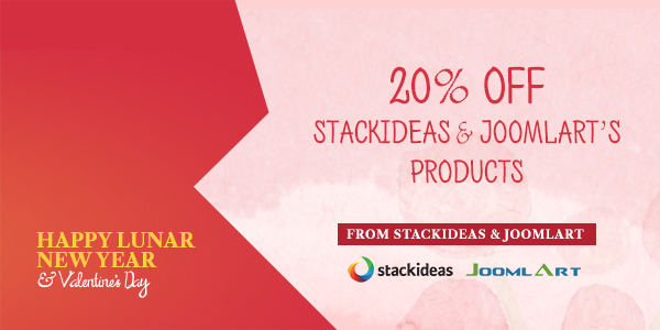 StackIdeas and JoomlArt together wish you a Happy Lunar New Year and a special Valentine's day