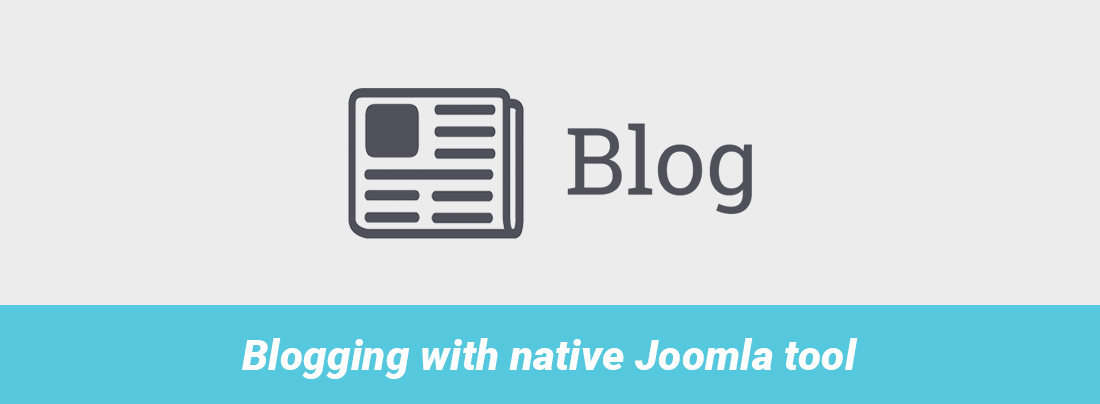 Joomla custom blog