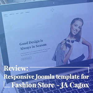 Joomla template JA Cagox with PayCart & VirtueMart support