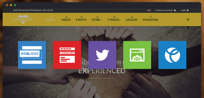 Joomla extensions and 3rd party components of JA Charity