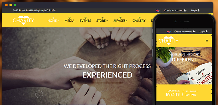 JA Charity is a fully responsive Joomla template