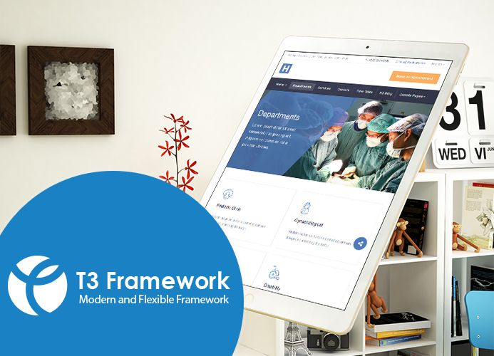 fully responsive healthcare joomla template