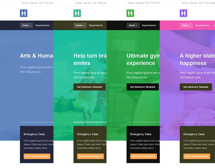 multile theme colors joomla template