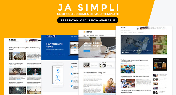 Free Joomla Template - JA Simpli beta now available   Joomla ...