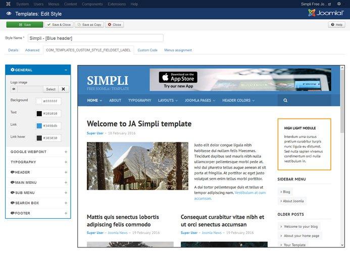 April 2016 delivery plan, Free Joomla Template & updates | Joomla ...