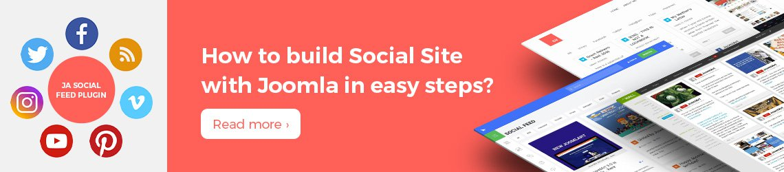 build Joomla social sites in easy steps