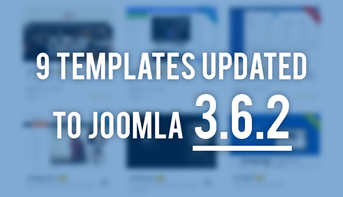 Updates: 9 more Joomla templates updated to Joomla