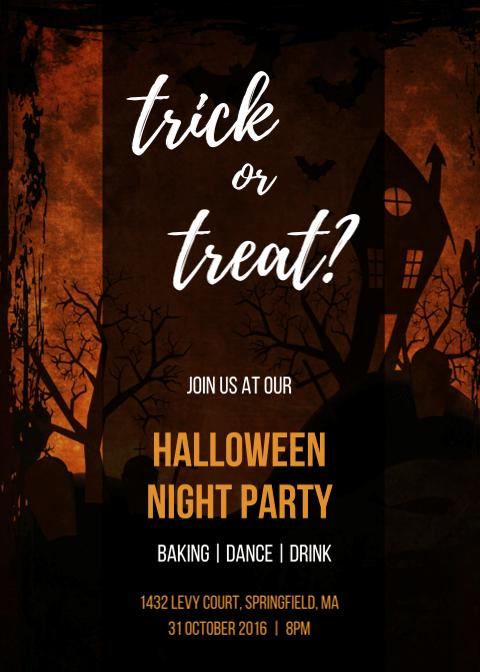 Halloween Invitation Card 10