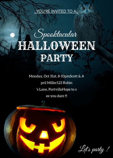 Halloween Invitation Card 1
