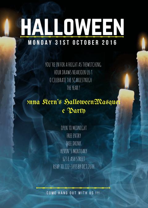 Halloween Invitation Card 2