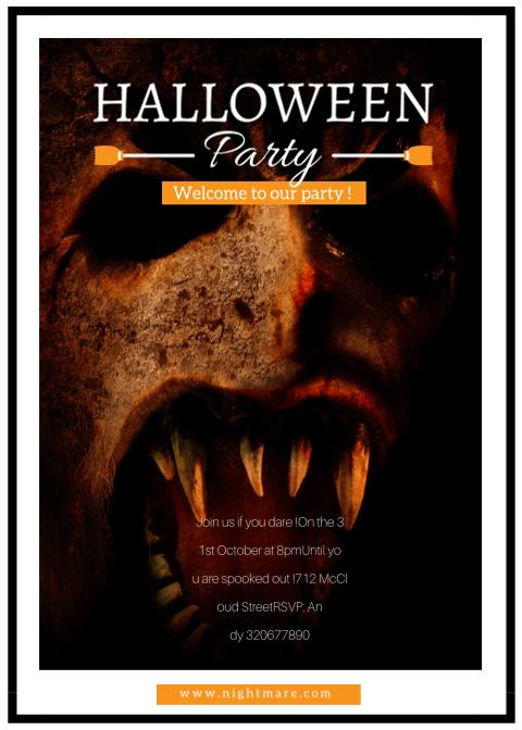 Halloween Invitation Card 3