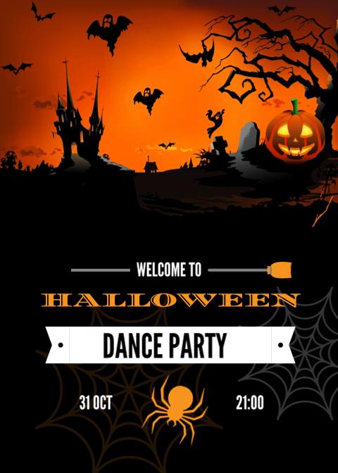 Halloween Invitation Card 4