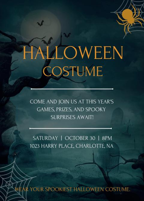 Halloween Invitation Card 6