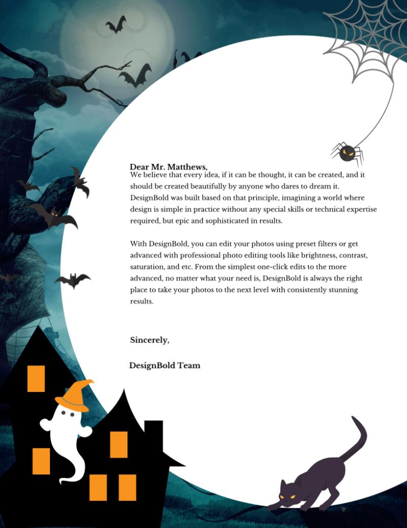 Halloween Letterhead 3