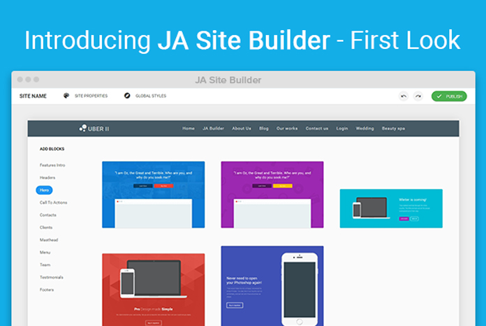 Joomla site builder