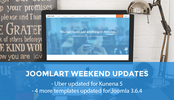 Versatile Joomla template Uber now supports Kunena 5 plus four more