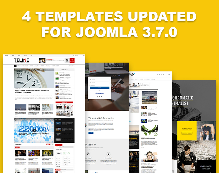 4 Joomla templates updated for Joomla 3.7.0 | Joomla Templates and ...