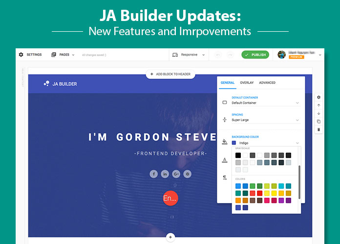 JA Builder updates is released