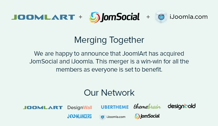 JoomlArt acquires iJoomla and JomSocial
