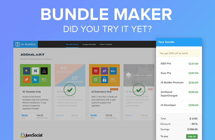 JA Bundle Maker - craft your own bundles and save upto 60%
