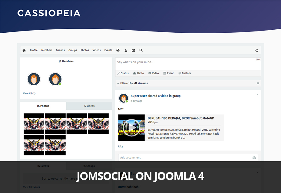 jomsocial and joomla 4