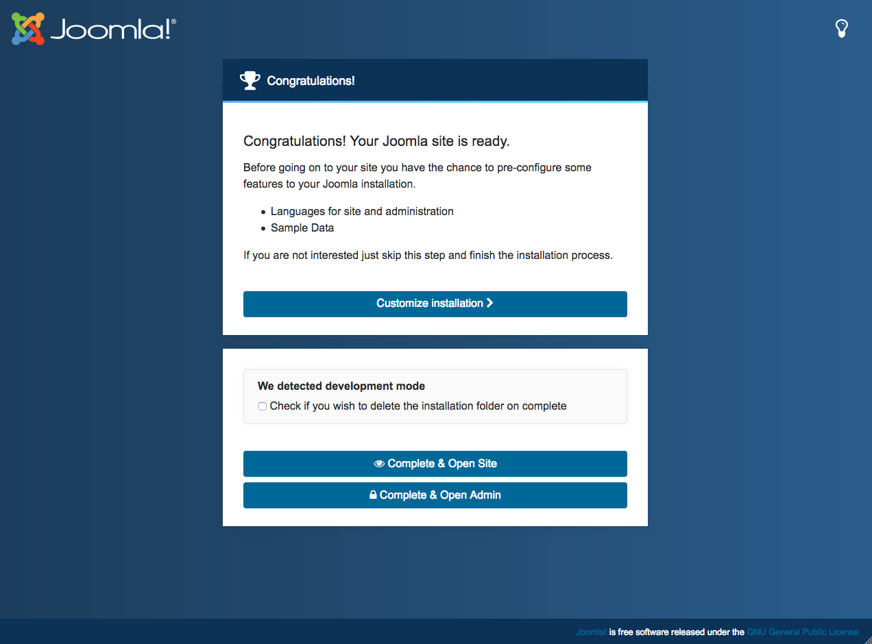 joomla 4 installation customization