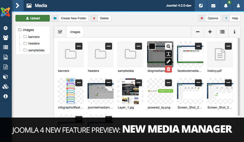 Joomla 4 new media manager