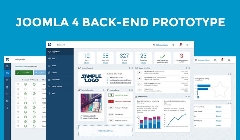 Joomla 4 backend Prototype