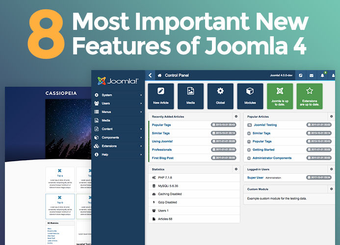 8 most exciting Joomla 4 new features
