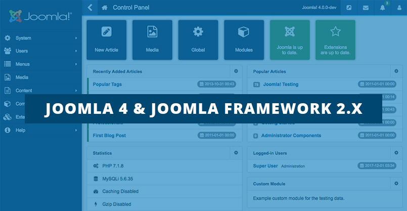 Joomla 4 and Joomla framework 2