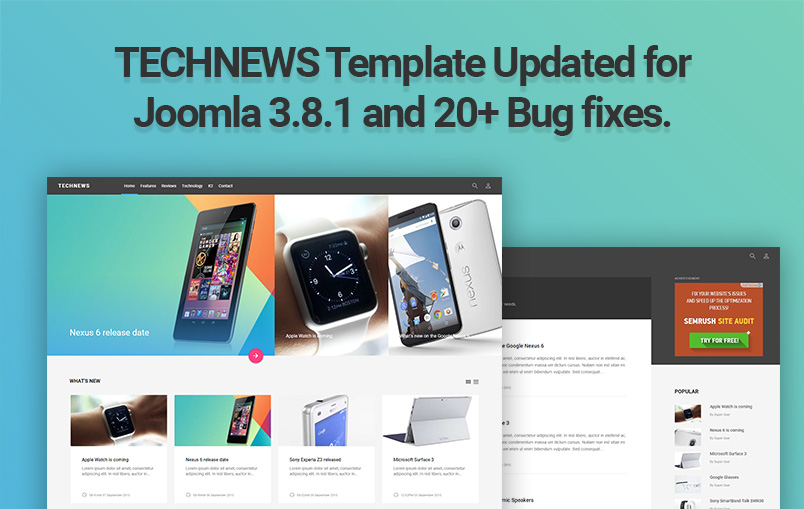 Technews template release