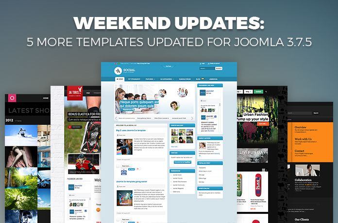 Joomlart weeken updates