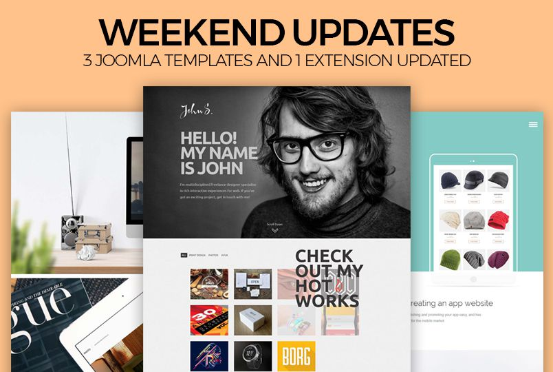 Weekend Updates: 3 Joomla templates and 1 extension updated for ...