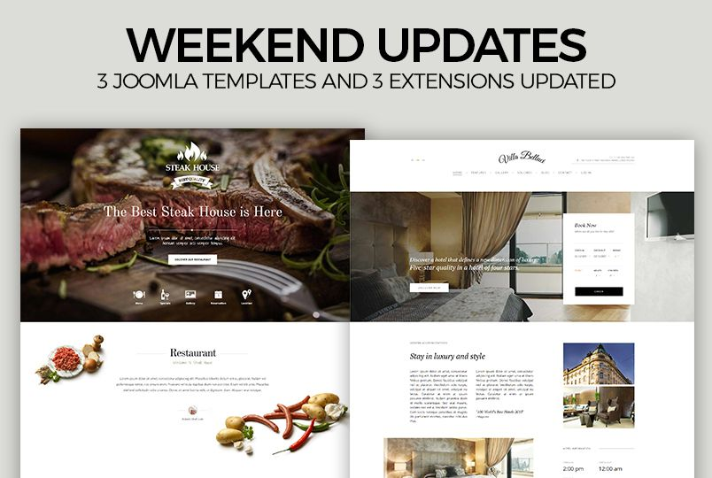Weekend Updates: 3 more Joomla templates and 2 extensions updated ...