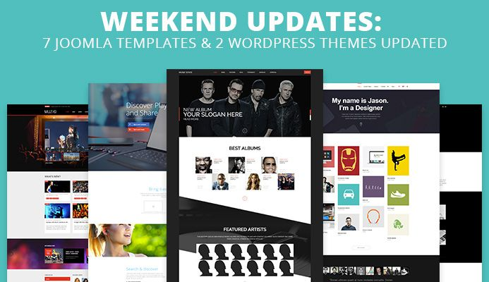 Joomlart weekend updates