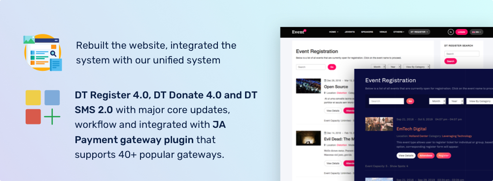 dth development updates