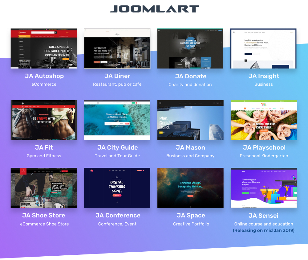 JoomlArt new joomla templates