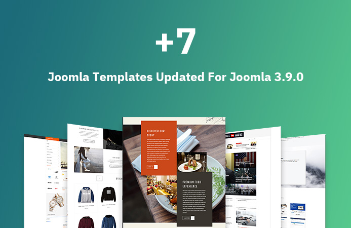 7 Joomla templates updated for Joomla 3.9