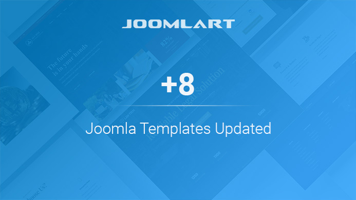 8 Joomla templates and 2 modules updated for Joomla 3.9 and bug fixes