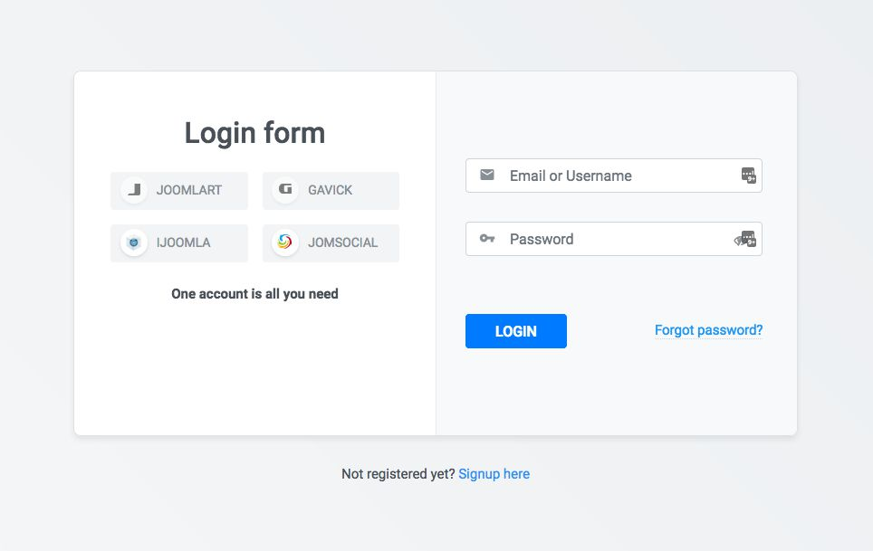Login page in new system
