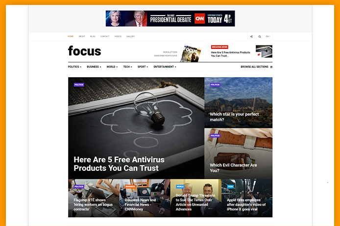 JA Focus – The Premium and Powerful News and Magazine Joomla Template