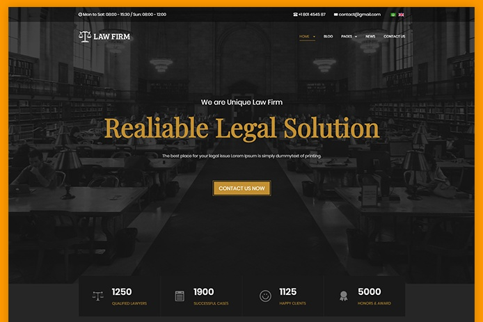 JA Law Firm - The best Lawyer and Business websites Joomla template