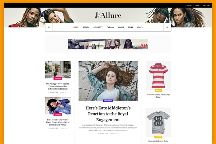 Modern Fashion Magazine Joomla Template