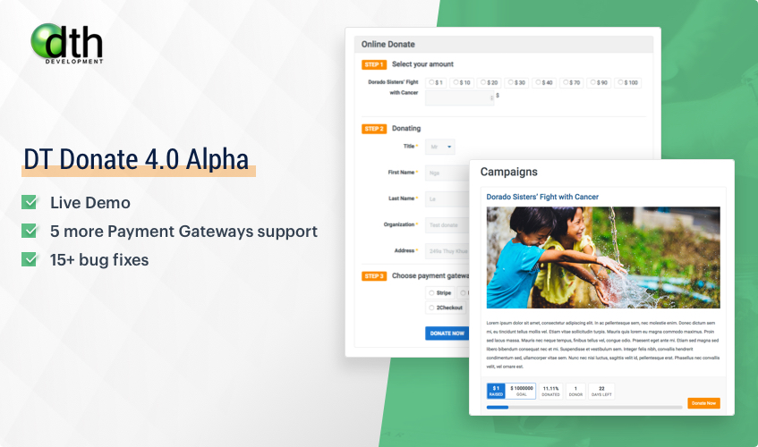 DT donate Joomla donation extension update